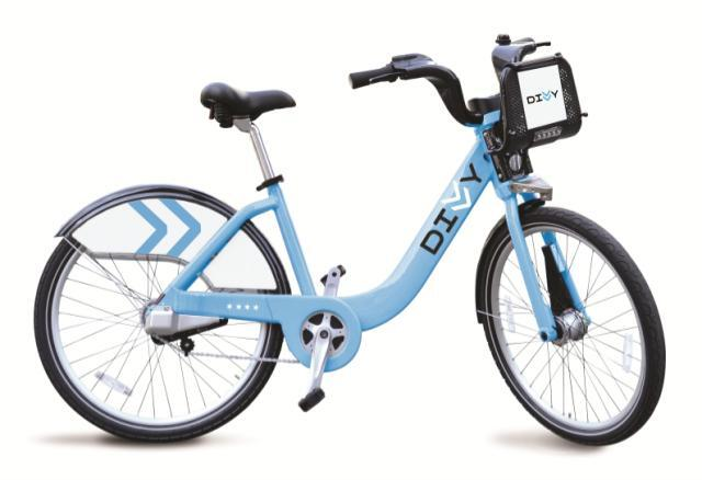 """Divvy,"" Chicago's forthcoming bike share program, features three-speed bicycles painted the same blue as seen as seen in the city's flag. (Courtesy Divvy / Alta Bicycle Share)"