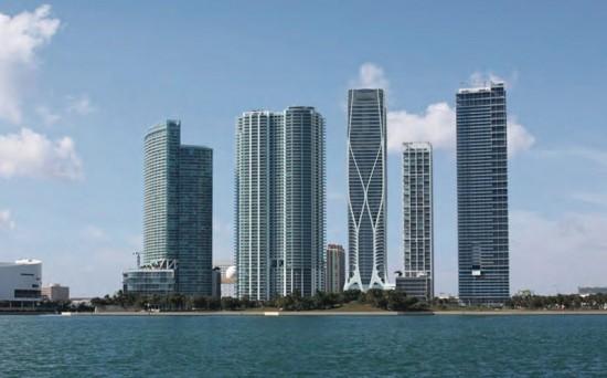Zaha Hadid's 1000 Museum Tower in Miami. (Courtesy Zaha Hadid Architects; Via Curbed Miami)