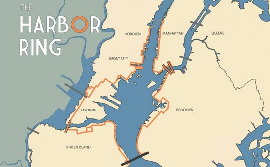 The 50-mile Harbor Ring route. (Courtesy Harbor Ring)