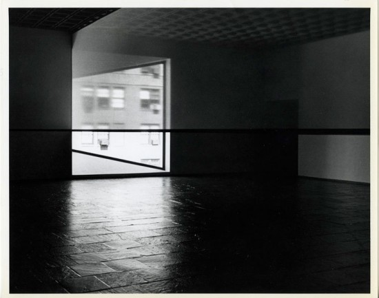 Robert Irwin (b. 1928), Scrim veil—Black rectangle—Natural light, Whitney Museum of American Art, New York, 1977. Whitney Museum of American Art, New York. Photograph © Warren Silverman, 1977
