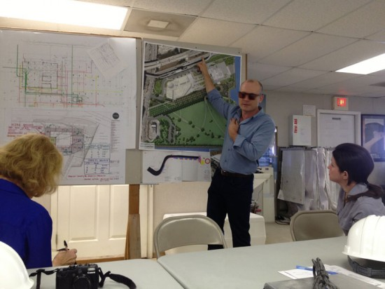 Thom Collins, Director of PAMM, Discusses Layout of Museum (Courtesy of Nicole Anderson/AN)