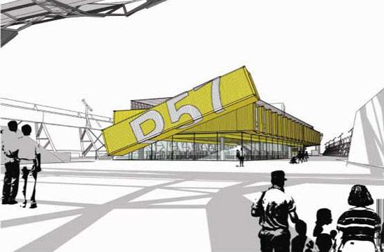 A previous design for rehabbing Pier 57. (Courtesy Young Woo & Associates)