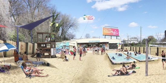 Rendering of Raleigh Beach. (Courtesy Raleigh Beach)