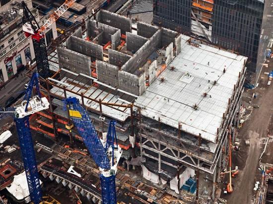 Construction of 3 World Trade in January. (Joe Woolhead)