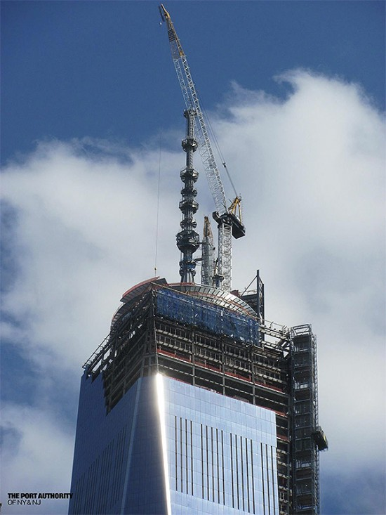 One World Trade reaches its peak. (Courtesy Port Authority)
