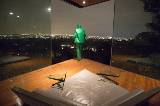 Statue of John Lautner from inside a bedroom. (Elizabeth Daniels)