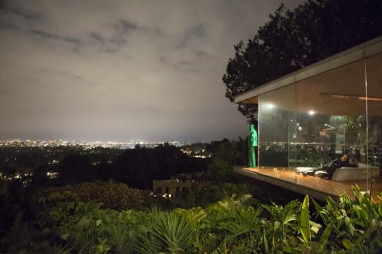 Statue of John Lautner overlooks Los Angeles. (Elizabeth Daniels)