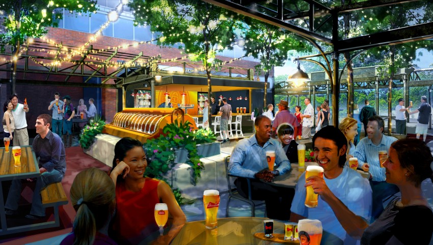 "A new outdoor ""biergarten"" at the Anheuser-Busch brewery in St. Louis will be a first for any of the beer conglomerate's 12 U.S. breweries. (Courtesy Anheuser-Busch)"