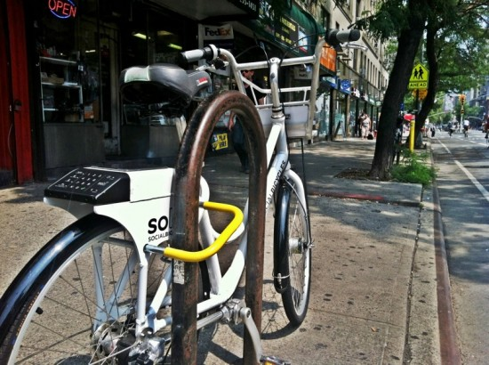 "Social Bike with ""smart lock"" (Courtesy City of Hoboken/Social Bicycles)"
