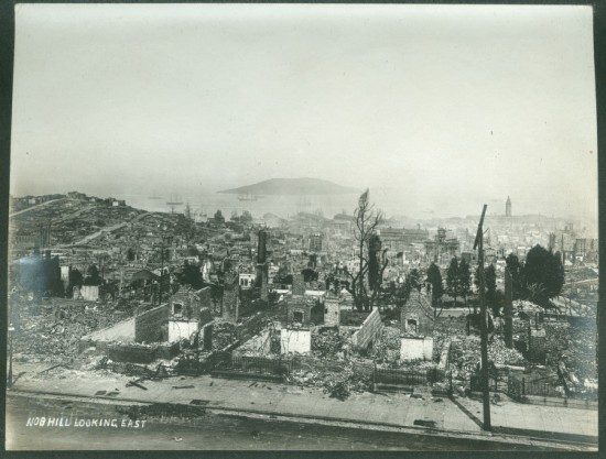 A lot more severe: aftermath of the 1906 San Francisco Earthquake. (Courtesy SMU Central University Libraries)