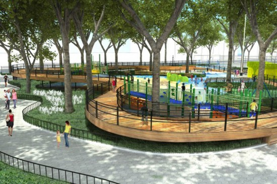Rendering of Imagination Playground in Brownsville by the Rockwell Group (Courtesy of the Rockwell Group)