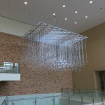 Memory Cloud hanging in the student center. (Courtesy Metalab)