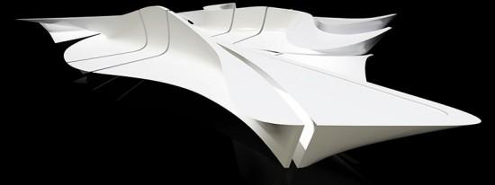 The design team conceptually carved 16 unique unique from a single block in Rhino. (Virgile Simon Bertrand)