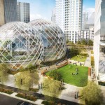 Open space aerial view - the proposed design. (NBBJ / Seattle.gov)