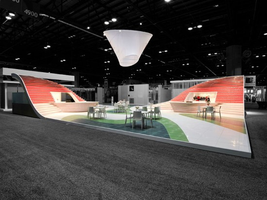 Piazza Ceramica was installed at Coverings 2012 in Orlando and at Coverings 2013 in Atlanta. (courtesy Ceramics of Italy)