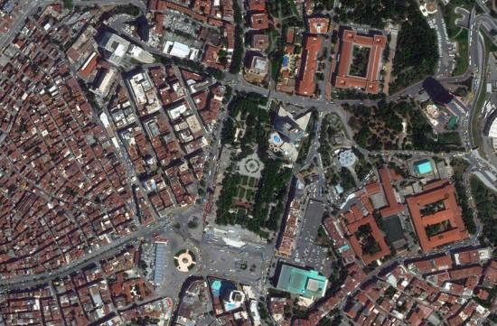Taksim Gezi Park. (Courtesy Bing Maps)