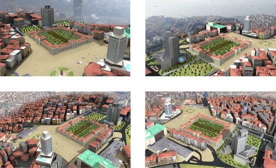 Rendering of the Topçu Barracks Project.