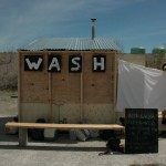 W.A.S.H., Rachel Higgins in collaboration with Kate O. Miles, 2013. A temporary sauna built on site heated with a wood-burning stove. (Raphaele Shirley)