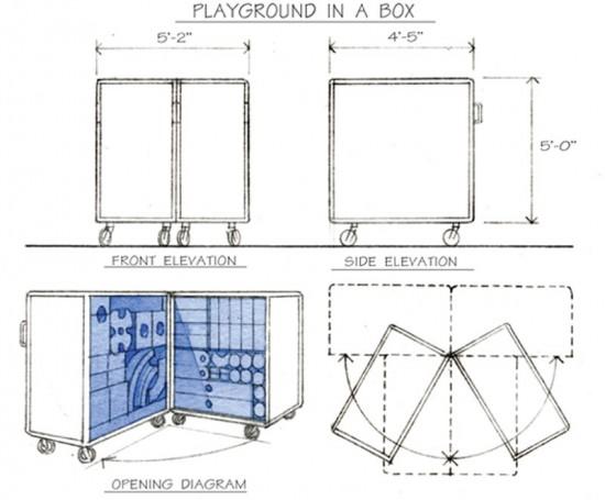 Diagram of Imagination Playground Blocks (Courtesy of Imagination Playground)
