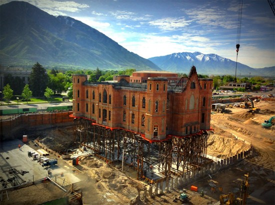 Provo Temple Construction (hansenbrian/Flickr)