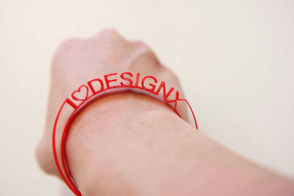 Mode Collective's 3D printed bracelet. (Courtesy DesignX)