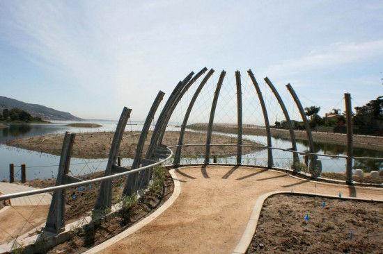 "The ""Bird Blind"" at the revamped Malibu Lagoon. This will be thick with reeds in a year or two. (Guy Horton)"