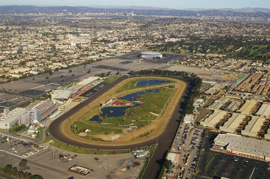 Aerial view of Hollywood Park. (Ron Reiring/ Flickr)