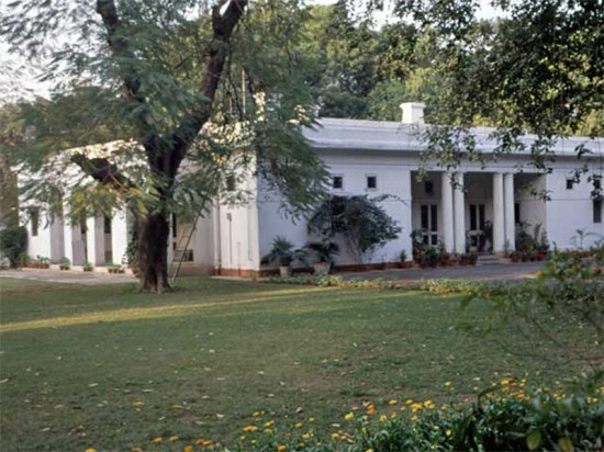 A house in New Delhi's Lutyens Bungalow Zone. (Courtesy World Monument Fund)