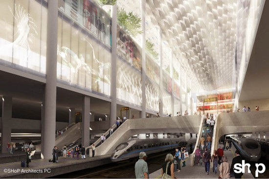 Penn Station proposal from SHoP Architects.