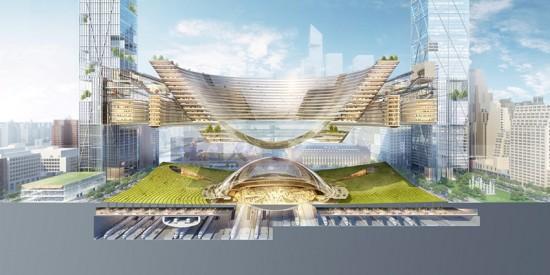 SOM's futuristic proposal.