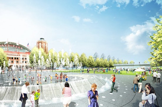 "The $20 million donation helps fund the redesign of Gateway Park, which Mayor Rahm Emanuel called Chicago's new ""front door."" (James Corner Field Operations)"