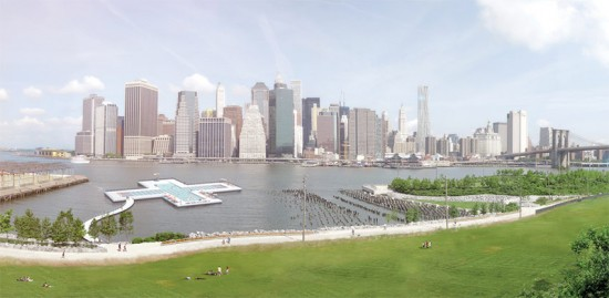 Rendering of the Plus Pool on the East River. (Courtesy Plus Pool)
