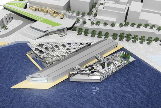 The proposed plan for the Seattle Aquarium expansion. (Courtesy Mithun / Seattle Aquarium)