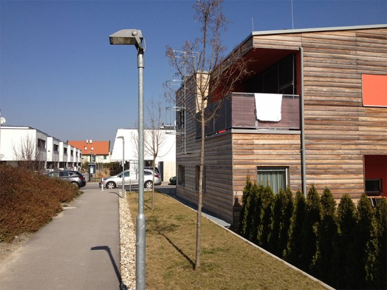 New low-density housing in a Vienna suburb.