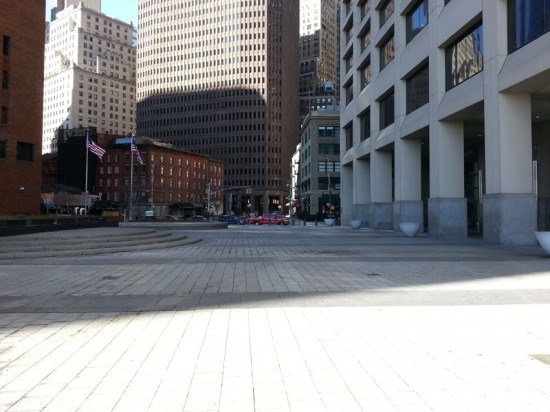 The plaza at 55 Water Street (Courtesy of DCP)