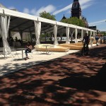 The benches can be reconfigured for various event programming. (courtesy Stoss Landscape Urbanism)