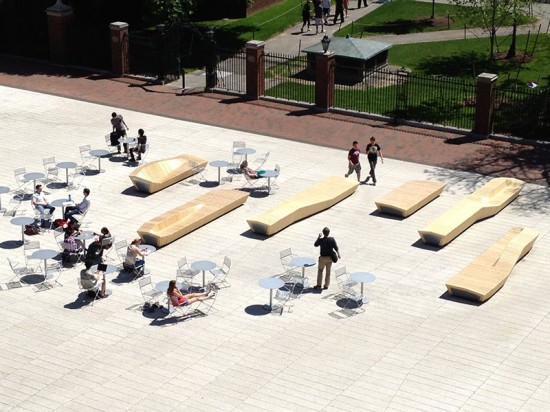 Each bench weighs between 2,500 and 4,500 pounds. (courtesy Stoss Landscape Urbanism)