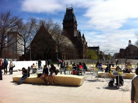Seven designs were fabricated across 17 benches. (courtesy Stoss Landscape Urbanism)
