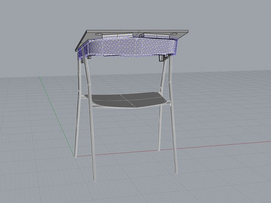 A parametric model of the chair (courtesy Alexander Purcell Rodrigues)