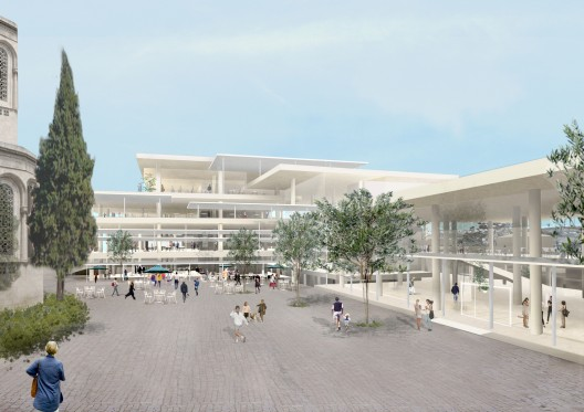 Rendering of the new campus (Courtesy SANAA)