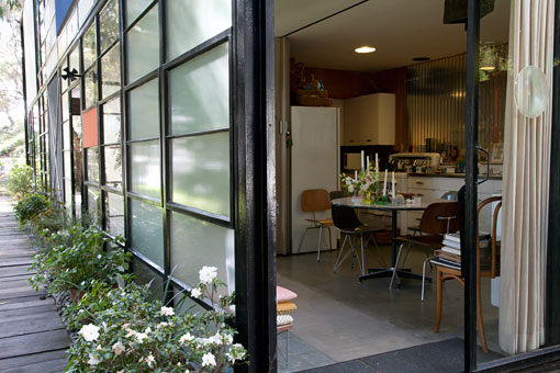 Eames House Conservation Project, view of the kitchen. (Holly Brobst, GCI)