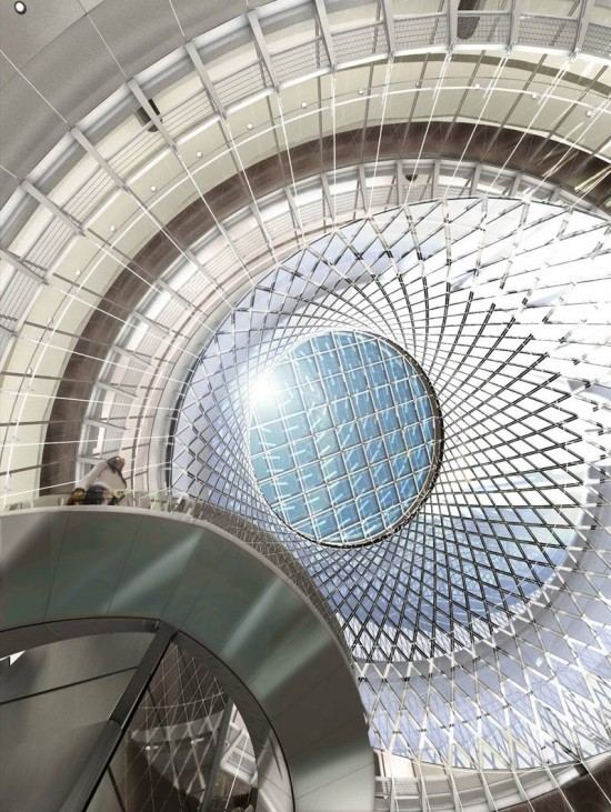"""Fulton Center / """"Sky Reflector-Net"""" (Courtesy  MTACC/NYCT, Arup, Grimshaw)"""