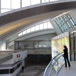 Inside the Tom Bradley Terminal's new Great Hall (Sam Lubell/ AN)