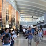 Inside the new Tom Bradley International Terminal (Sam Lubell/ AN)
