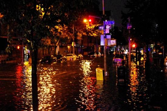 Sandy Hurricane causes severe flooding in lower Manhattan (Courtesy of David Shankbone)
