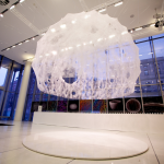 The completed Silk Pavilion on exhibit at MIT (Sten Keating/ Courtesy Mediated Matter)