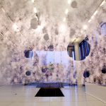 View from within the pavilion (Steven Keating/Courtesy Mediated Matter)
