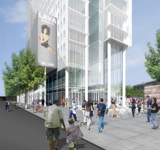 BAM South will be located on Flatbush Ave. in Brooklyn. (Courtesy TEN Arquitectos)