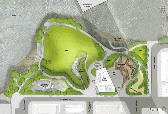 Plan for new Main Street section of Brooklyn Bridge Park (Courtesy of Brooklyn Bridge Park)