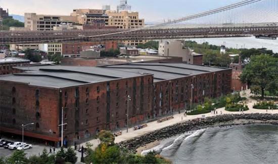 Empire Stores coffee warehouses in Brooklyn Bridge Park (Courtesy of Brooklyn Bridge Park)